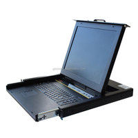 GS1516M 15'' TFT LCD 16 port hotplugable KVM switch supports keyboard and mouse PS2 and USB