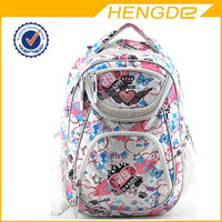 Newest design fashion colorful school bag , cheap girls backpack with high quality for teen