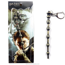 Harry Potter Cosplay Magic Wand Metal Pendant Keychain Ring Cosplay