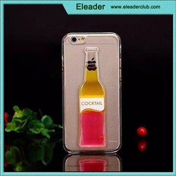 for iphone 6 plus liquid flowing bottle beer cover