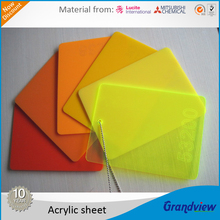 outdoor advertising 3mm color acrylic for sign display and light box