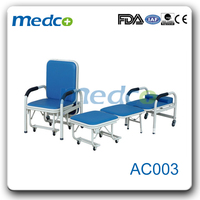 HOT SALE!!! AC003 Comfortable and space-saving Hospital Accompanying hospital recliner chair bed