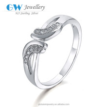 Cheap Wedding Silver Ring 325 Low MOQ Stock Lock Single Stone Ring Designs