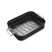 High quality chicken baking pan/carbon steel microwave baking tray/rectangular beef baking pan