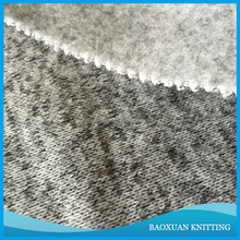 100% polyester grey cationic coarser knit fleece fabric for cloth
