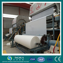 Best Price 1575 high performance toilet tissue paper making machine and paper mill