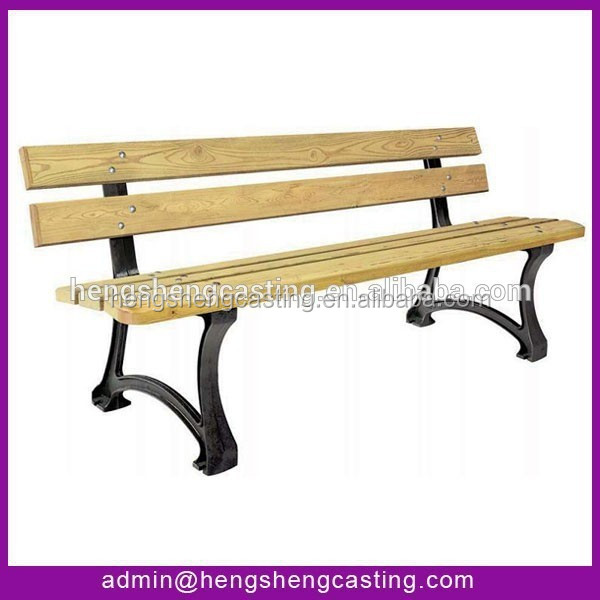 Hot Sale New Product Garden Furniture Leg Extenders Metal Outdoor Bench Wooden Slats For Bench