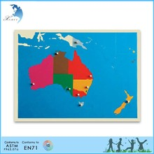 Learning EN 71 handmade educational montessori toy Puzzle Map of Australia