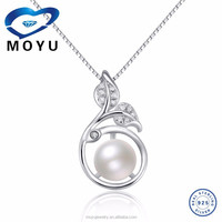 2015 S925 silver jewelry 925 silver pearl pendant with freshwater pearl