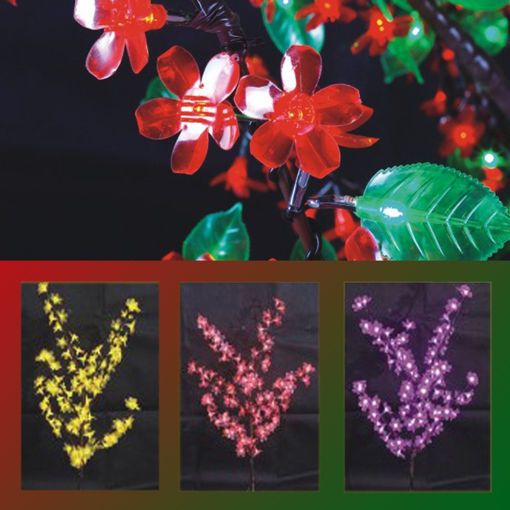 Artificial Outdoor Lights Led Landscape Flower Artificial Trees Cherry Blosso