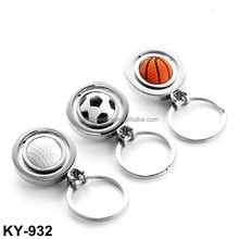New Design Movable Football basketball golf metal keychain