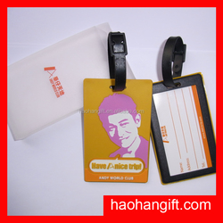 customized airline travel silicone luggage tags & soft pvc tag wedding favor for sale