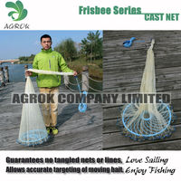 Agrok PCNT Frisbee Series Nylon Netting Big Size American style drawstring Cast Net