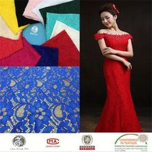 newest fashion cord lace fabric 5 yard,nylon and spandex lace fabric,good quality lace fabric ribbon