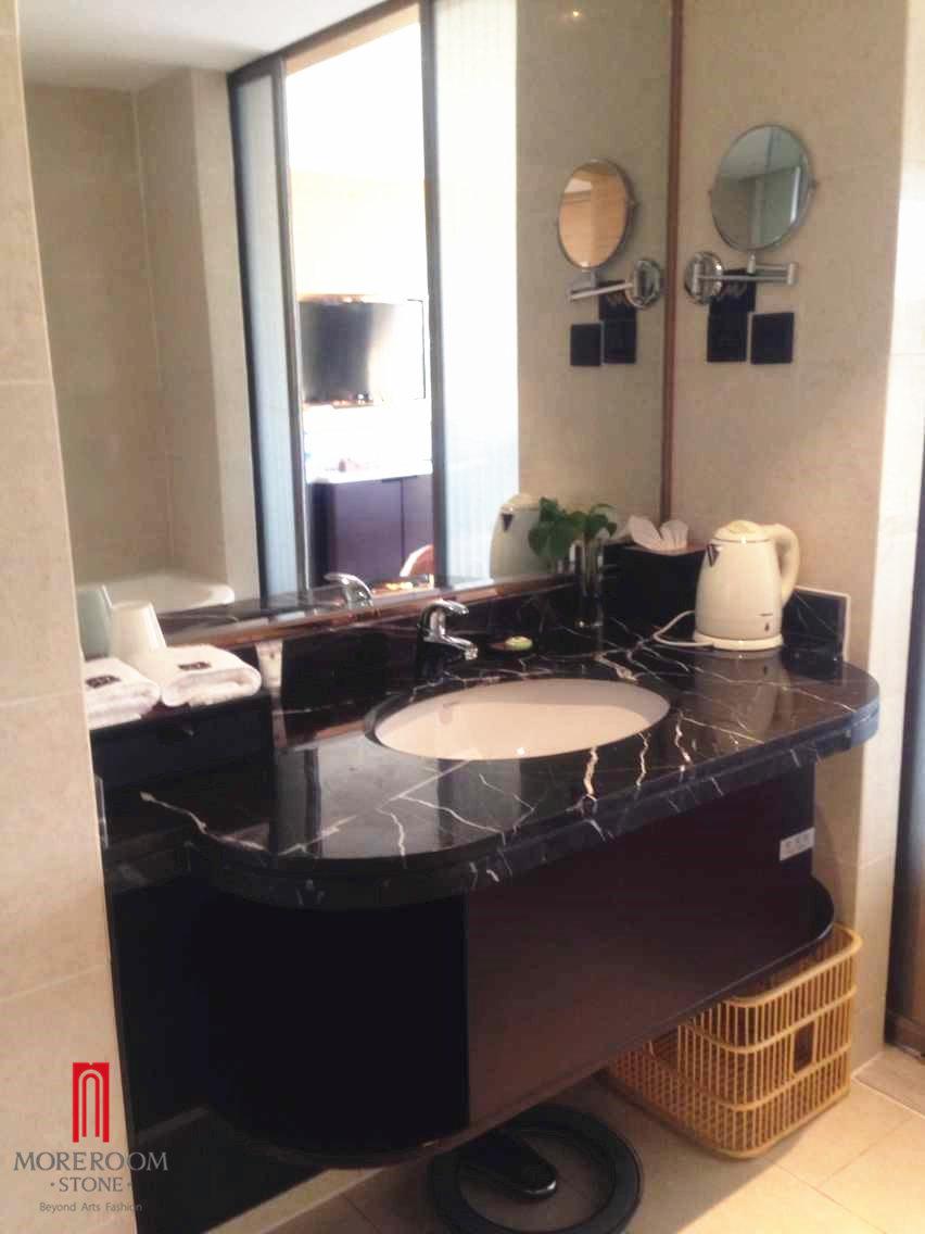 Black Marquina marble bathroom vanity top_1.jpg