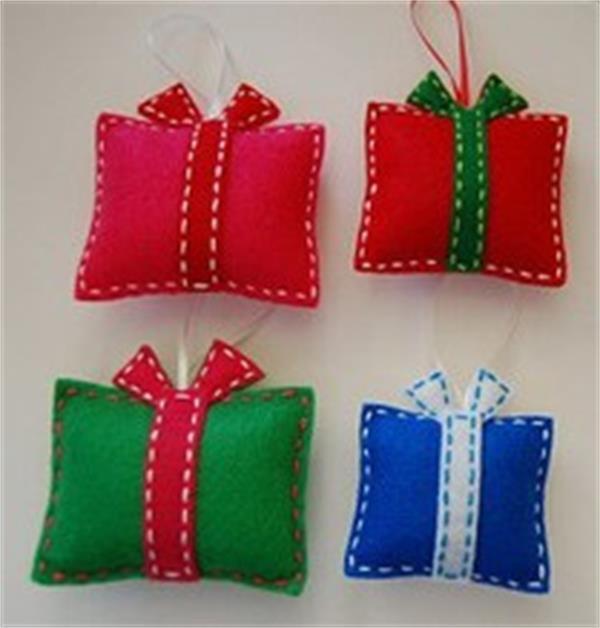 Handmade christmas crafts christmas hanging crafts felt crafts