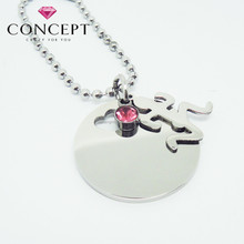 Stainless Steel Zirconia Running Man Pendant for Sports Competition