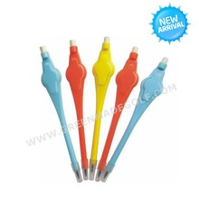 Flower plastic golf pencil with eraser