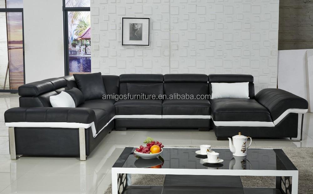 Furniture Sofa Modern Cheap Sofa Leather Sectional Sofa ...