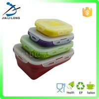 Folding silicone heat resistant food container