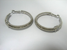 Multi size Diameter from 0.6 inch to 2.76 inch Wholesale Layered Cheap Hoop Earrings silver Color welding accessory
