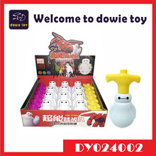 Wind up Baymax flash spinning top toy with music and light beyblades for kids