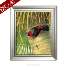 wholesale Black and red wonderful handmade oil painting of birds