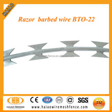 Concertina razor wire used for military entanglement