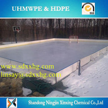 impact resistant hdpe fence for Arena ice rink system,synthetic ice hockey shooting rink skating sheet/barrier/fence