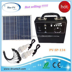 mini plastic solar photovoltic lighting kit 30w solar system project