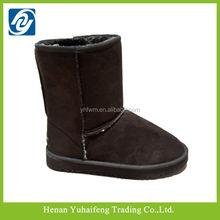 Invierno barato cálidas botas de gamuza botas