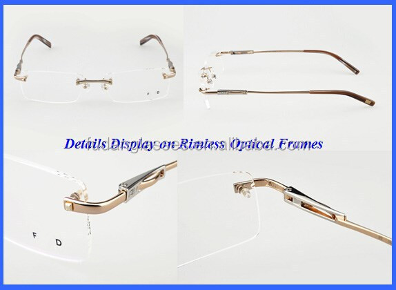 Rimless Eyeglass Frames 2015 : 2015 New Cheap Fd Glass Frames Rimless Eyeglasses Frame ...