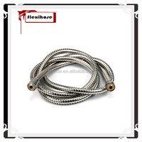 Stainless Steel Double Lock Flexible Shower Hose with Brass Fittings