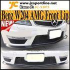 2012 facelift fibra de carbono w204 c63 spoiler dianteiro lábio divisores para mercedes benz w204 c63 amg para carros