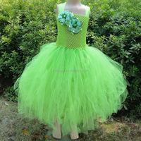Hot sale frock design girls tutu dresses, new style dress casual dress, girls puffy rainbow tutu dress