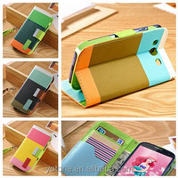 High quality stand design hybrid universal pu leather with credit card slot case for galaxy s3