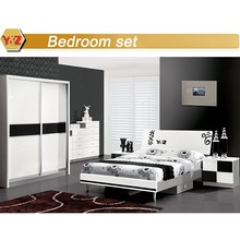 2015 Home furniture ,bedroom sets white pvc MDF cabinet with cheap price