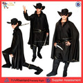 Pgwc-3232 Zorro costume adulto halloween costume homem simples cosplay