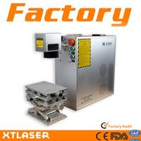 portable 20W 30W fiber laser marking machine for steel plate