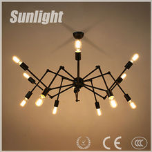 Modern white&black Spider shape industrial Artistic style droplight/ pendant lamp for hotel decoration