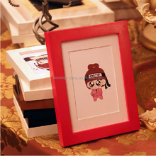 Plastic PS Cheap Wall Pictures Hand Painted Photo Frames Wooden Multi Photo Frames