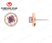Guangzhou Fashion Gold Jewellery Market Gemstone Earring One Gram Gold Jewellery