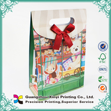 Children gift packing style OEM factory cheap cute cartoon printed paper bags