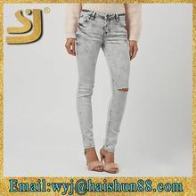 Nuovo design sexy pantaloni jeans delle signore, nome di jeans di marca a buon mercato, signore sopra i jeans di design