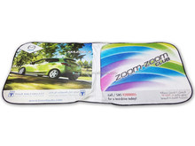 Tyvek car sunshade with custom logo
