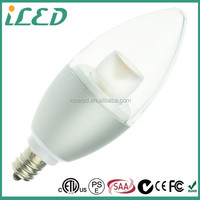 Small Edison Screw E14 E27 3.5 Watt Dimmable Warm White Clear Candle LED Light Bulbs for Pendent Lamp