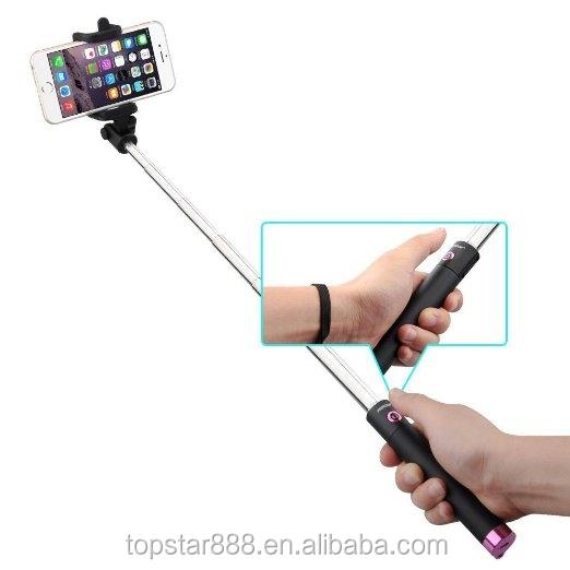 bluetooth selfie stick wireless camera monopod selfie stick with foldable han. Black Bedroom Furniture Sets. Home Design Ideas