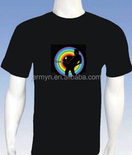 custome design hot sale EL t-shirt with hight quality and low price