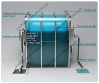 PUXIN portable Biogas Plant to get biogas for electricity