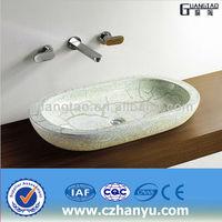 GT-5057D porcelain decoration wash basin ellipse toilet basin